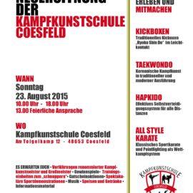 Eröffnung der Kampfkunstschule Coesfeld