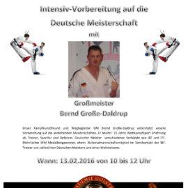 Ankündigung Pointfighting-Lehrgang Akademie Golstein