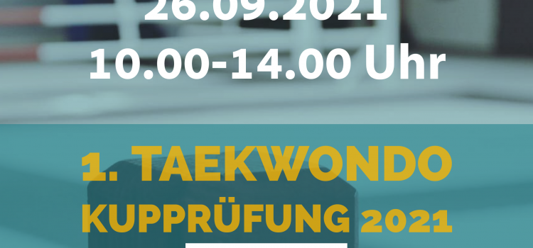 1. Kupprüfung Taekwondo 2021