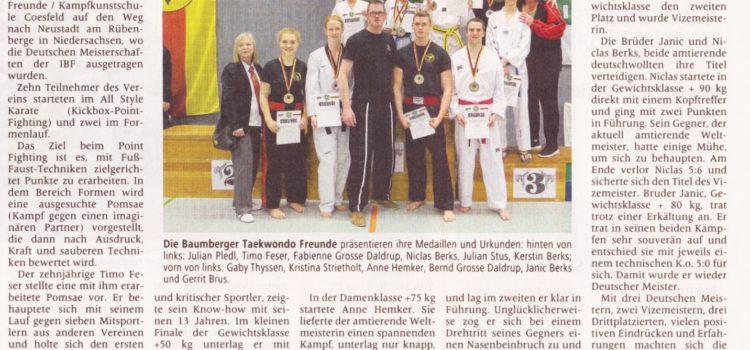 Presse: AZ-Bericht zur Deutschen Meisterschaft der IBF