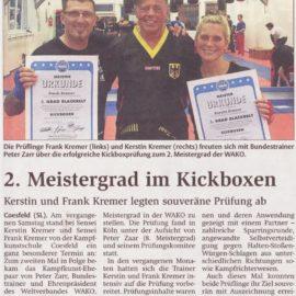 Presse: Bericht zur Kickbox-Danprüfung